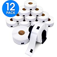 """Aegis Adhesives - Compatible DK-1201 Address & Barcode (1.1"""" X 3.5"""") Replacement Labels, Compatible with Brother QL Label Printers - 12 Rolls + 1 Frame"""