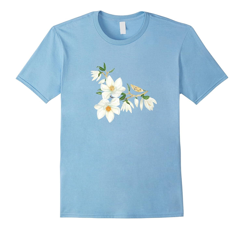 Magnolia Flower Floral T Shirt Hnteecom