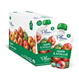 Amazon Price History for:Plum Organics Stage 2, Organic Baby Food, Apple and Broccoli, 4 ounce pouch (Pack of 12)