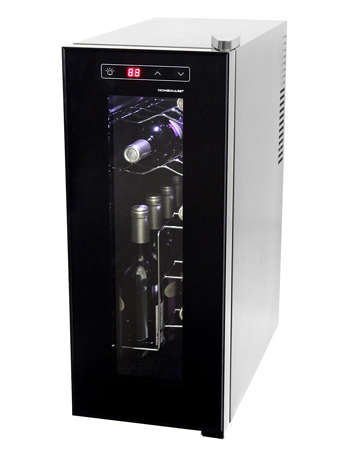 HOMEIMAGE Thermo Electric Wine Cooler for 12 Bottles with Vertical Rack - HI-12C