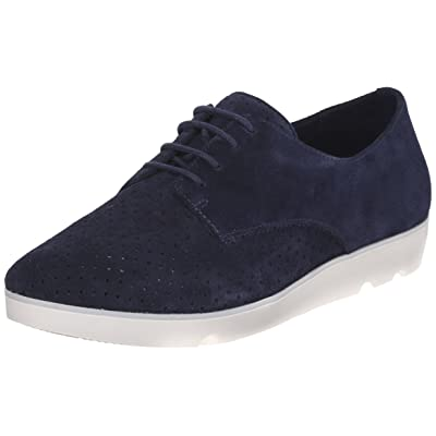 CLARKS Women's Evie Bow, Navy Suede, 9 M US | Fashion Sneakers