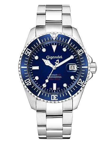 Gigandet Reloj de Hombre Automático Sea Ground Reloj de Buceo Analógico Correa de Acero Azul Plata G2-009: Gigandet: Amazon.es: Relojes