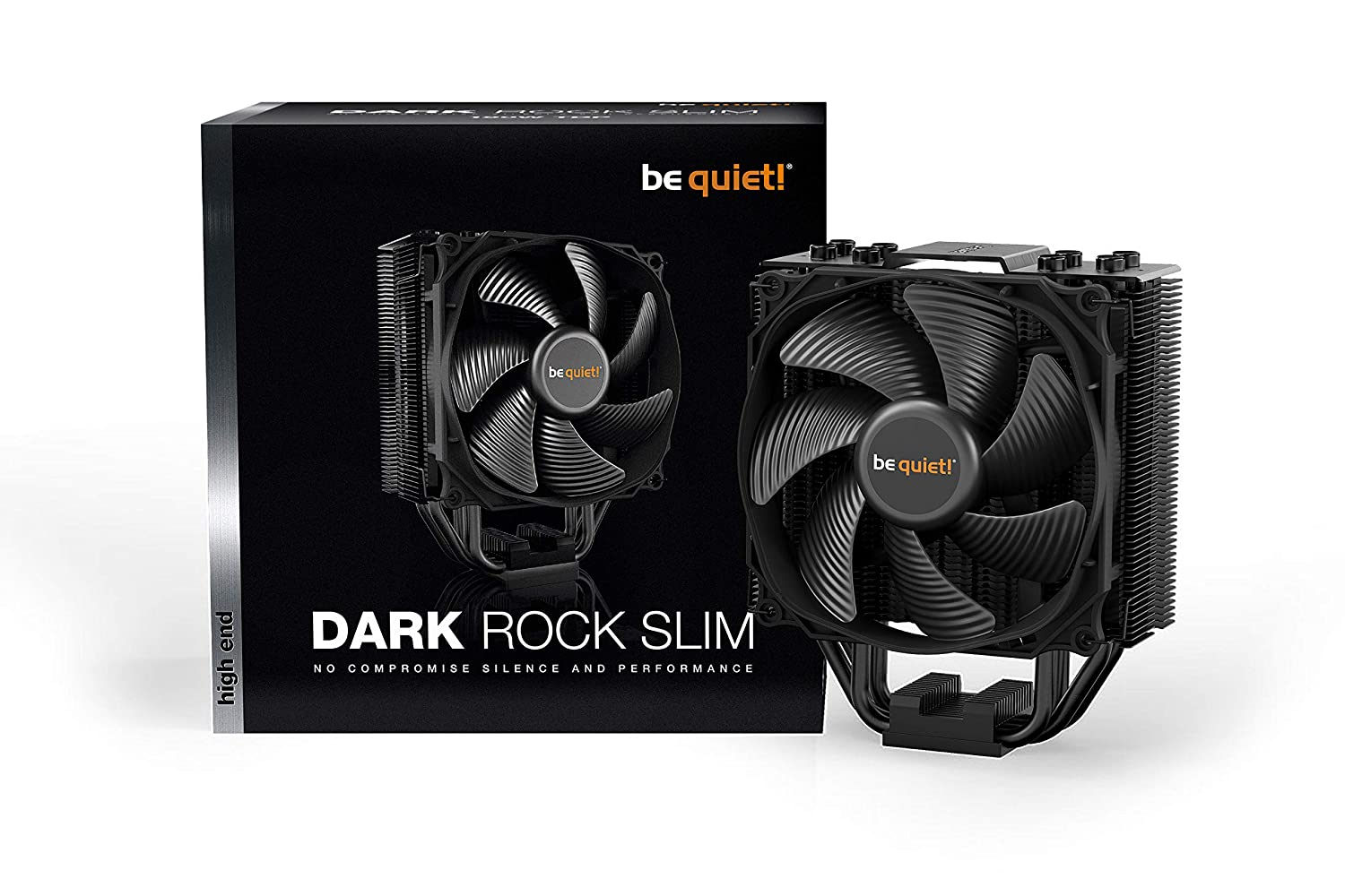 be quiet! BK024 Dark Rock Slim, CPU Cooler, 180W TDP, Silent Wings 3 120mm PWM Fan, Compact Construction