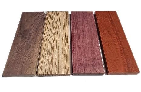 Amazon.com: Exotic - Surtido de madera dura, diseño de ...