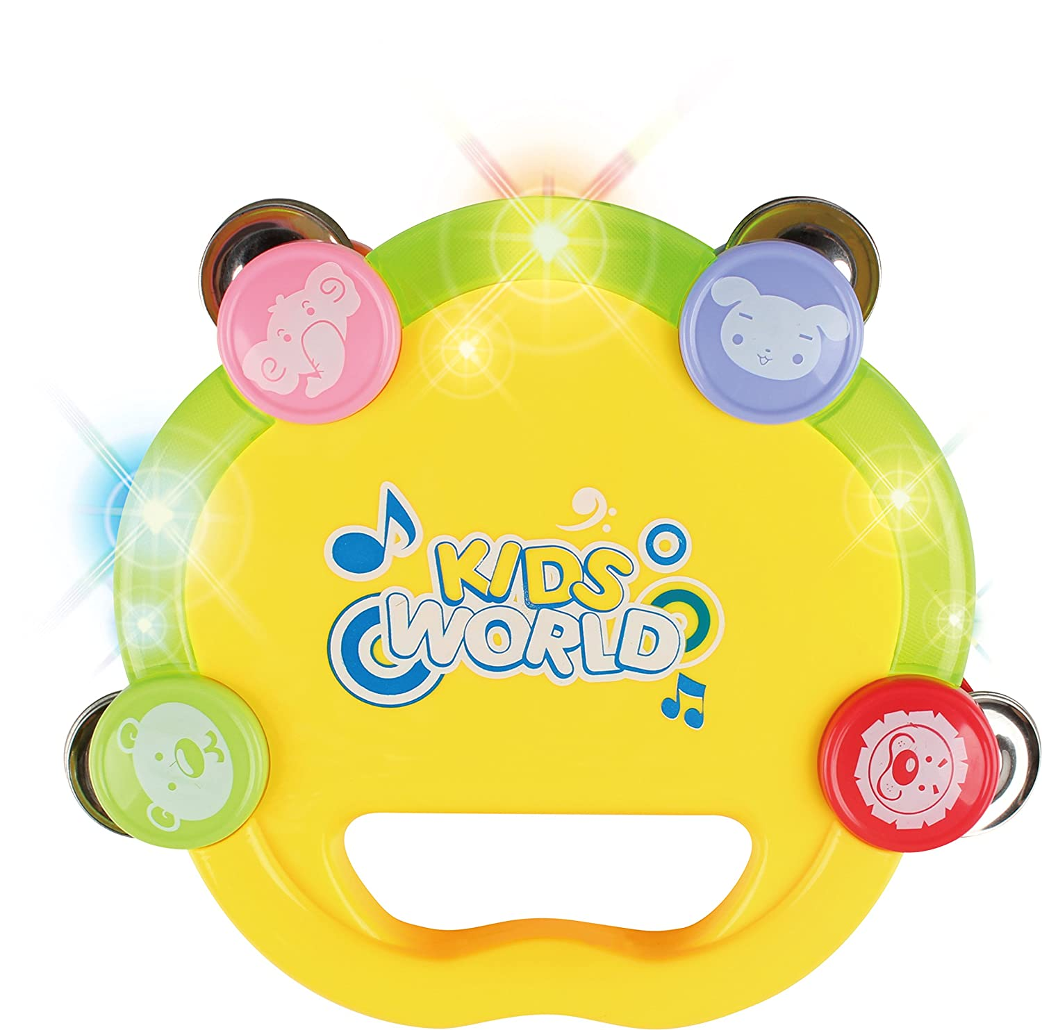 BAOLI Happy Jingle Bell Handle Tambourine Rattle Ring with Light SYNCHKG104842