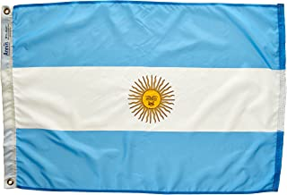 product image for Annin Flagmakers Model 190322 Argentina Flag Nylon SolarGuard NYL-Glo, 2x3 ft, 100% Made in USA to Official United Nations Design Specifications