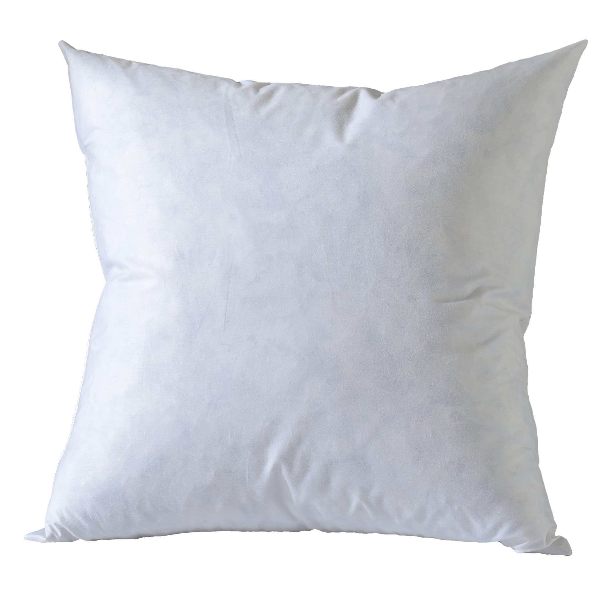 Home Basic 26x26 euro down feather Pillow Inserts-100% Cotton Fabric- White