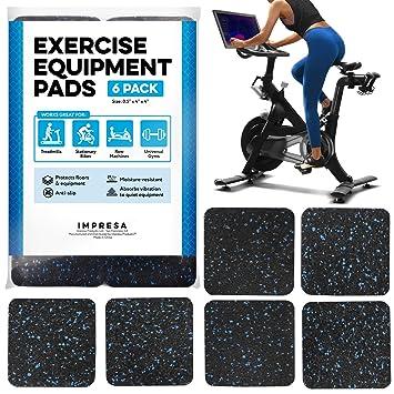 IMPRESA - Alfombrilla antideslizante para equipo de ejercicios, 6 ...