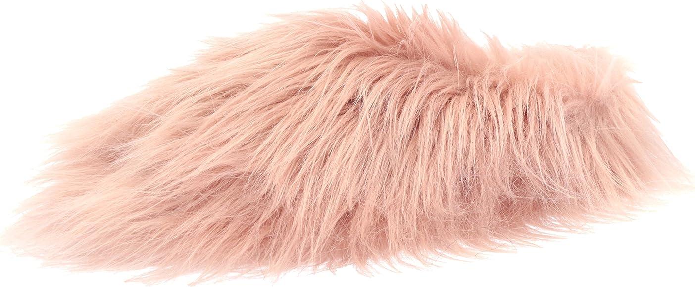 7ea113833d980 Amazon.com | Steve Madden Women's Fuzzy Slipper, Mauve, 5 M US ...