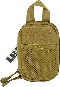 LefRight Mini Tactical Molle EDC Compact Pocket Organizer Pouch (Black, S) (Khaki)