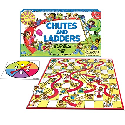 amazon com winning moves games classic chutes and ladders board