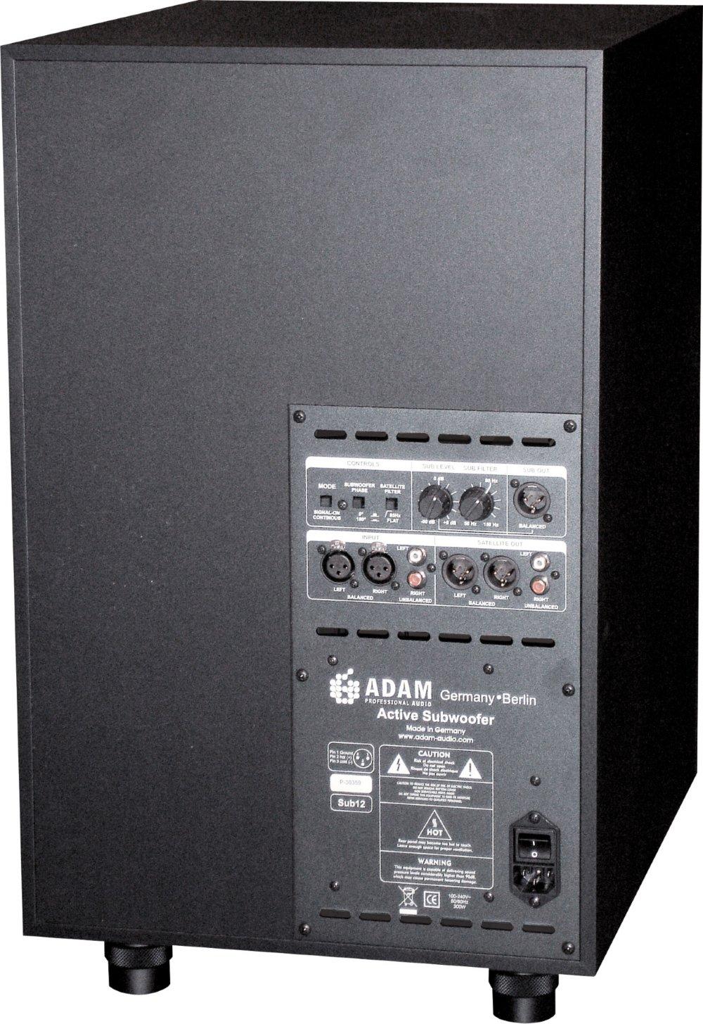 Adam Audio Sub12 Powered Studio Subwoofer Black
