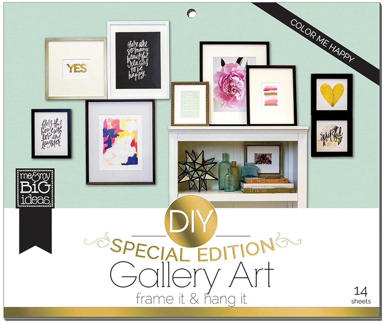 Amazon.com: me & my BIG ideas DIY Gallery Art Color Me Happy Special ...