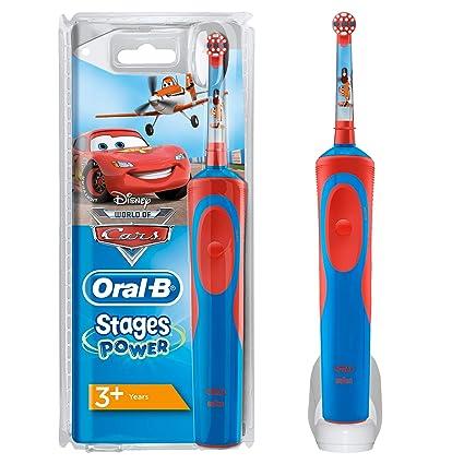 4 BRAUN ORAL B POWER STAGE Cars Bambini Spazzole di ricambio Spazzole OralB