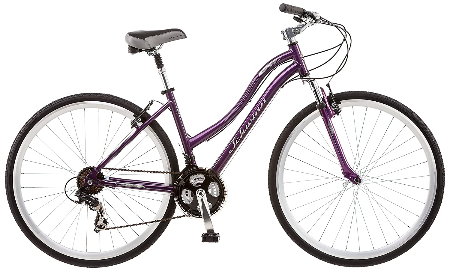 Schwinn Odana 700c Women's 16 Hybrid Bike, 16-Inch/Small, Purple