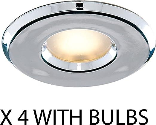 Laeto Lighting Lot de 4 spots à LED de salle de bain GU10 ...