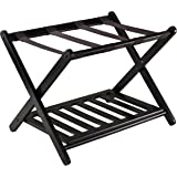 Winsome Wood Reese Luggage Rack with Shelf