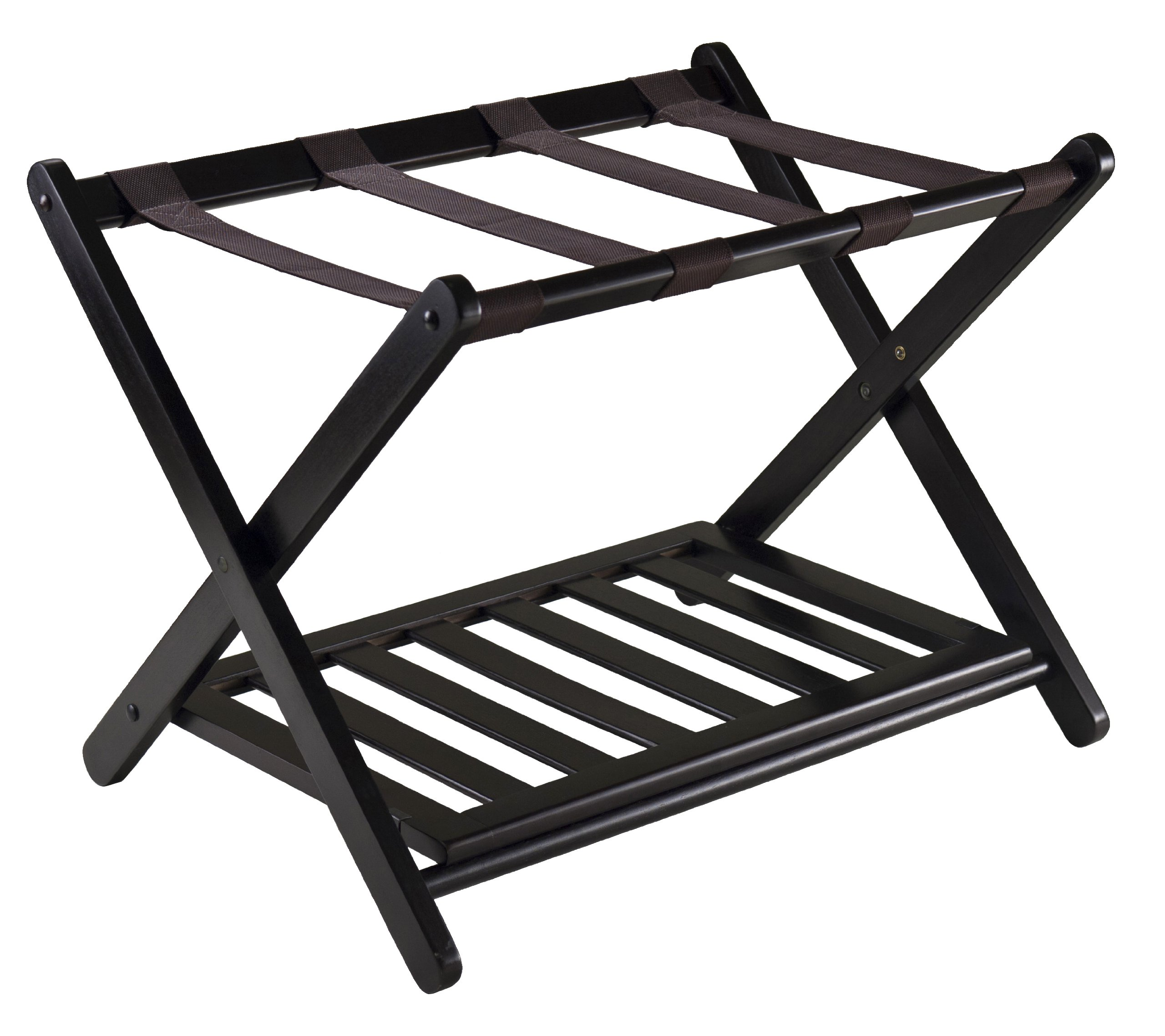 Winsome 92436 Luggage Rack with Shelf by Winsome