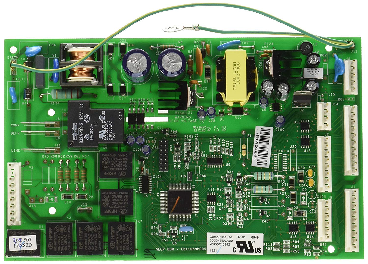 NEW WR55X10775, WR55X11072, WR55X11130 Control Board Motherboard for GE Refrigerator 200d4852g010 by Primeco Supply - 1 YEAR WARRANTY by PRIMECO