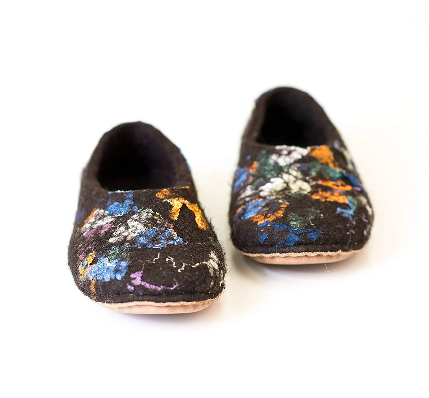 BureBure Rustic Felted Wool and Linen Slippers for Women Handmade in Europe