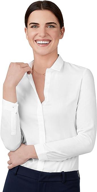T.M.Lewin Camisa Oxford Semi Ajustada Blanca para Mujer ...