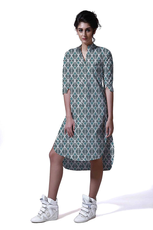 SINS Women's Rayon Shades Of Life Printed Summer Dress
