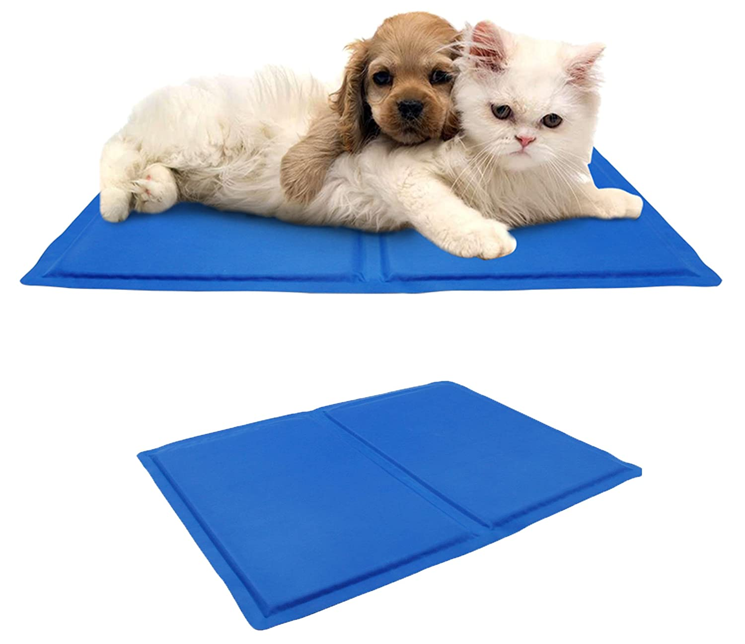 pet dog cat cooling mat cool gel mat bed mattress heat. Black Bedroom Furniture Sets. Home Design Ideas