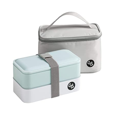 Cutlery 2 Containers Grub Tub Light Blue Lunch Box