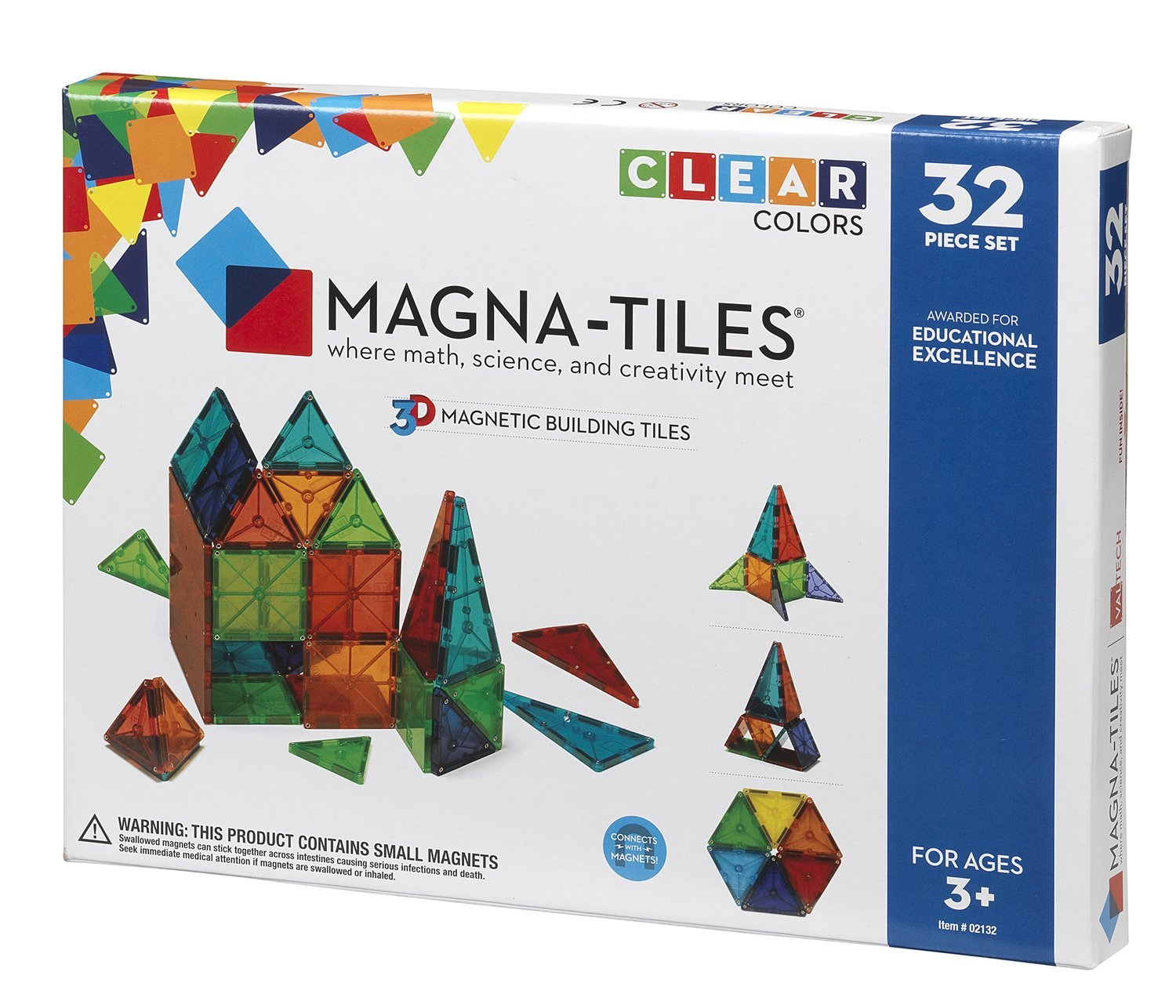 Amazon Magna Tiles Clear Colors 32 Piece Set Industrial
