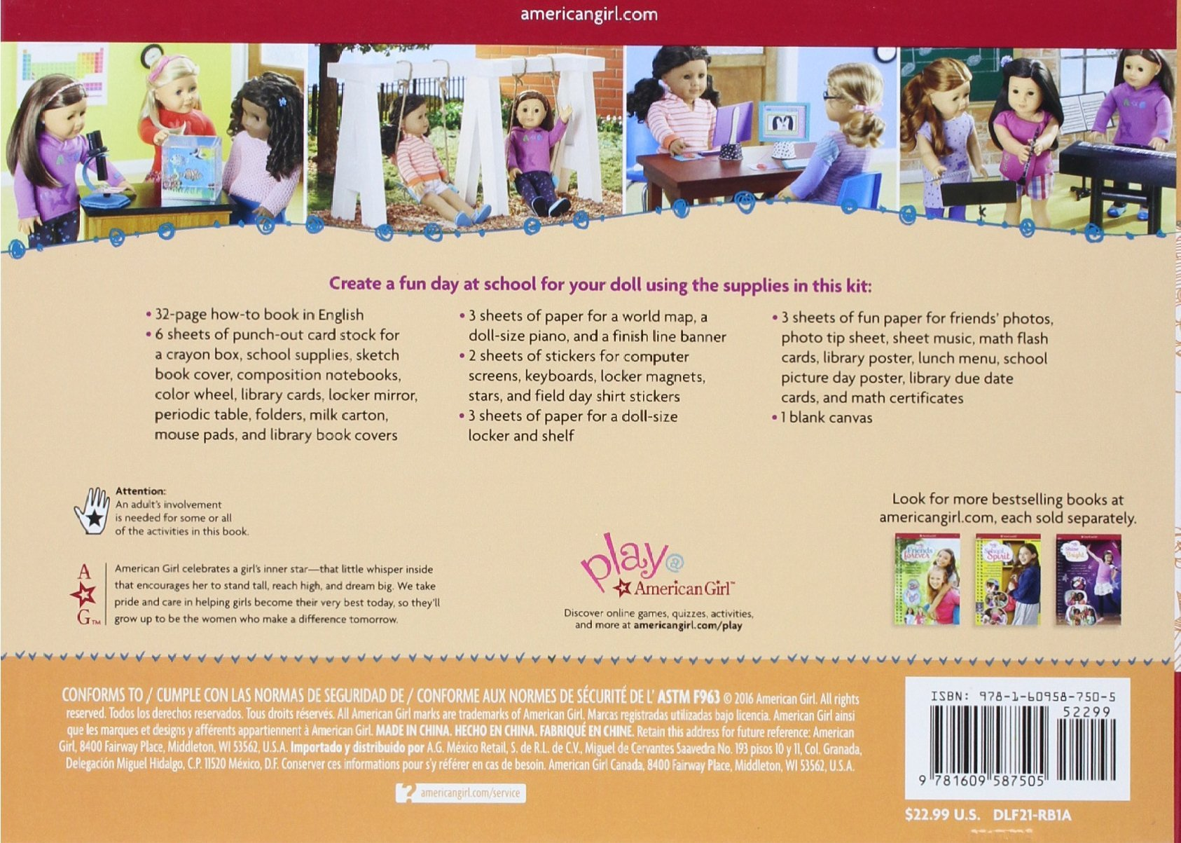 Doll school design a day of learning and play american girl truly doll school design a day of learning and play american girl truly me emily osborn 9781609587505 amazon books gumiabroncs Gallery