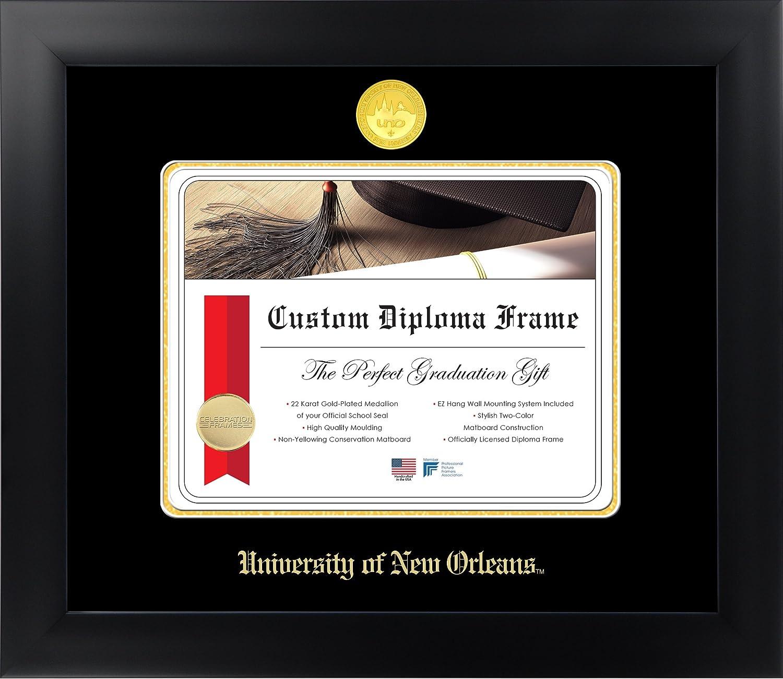 大学の新しいOrleans 8 1 /2 x 11マットブラック仕上げinfinity卒業証書フレームby Celebrationフレーム   B01M048UC2