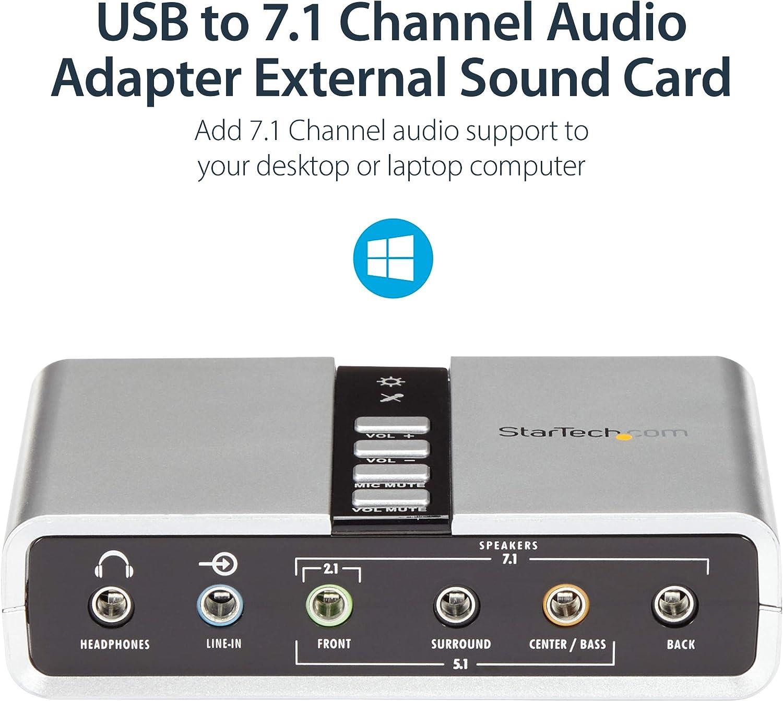 Amazon.com: StarTech.com Adaptador de Audio Estéreo USB ...