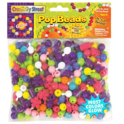 Creativity Street Pop Beads, Assorted Colors, Assorted Sizes, 300 Pieces: Toys & Games