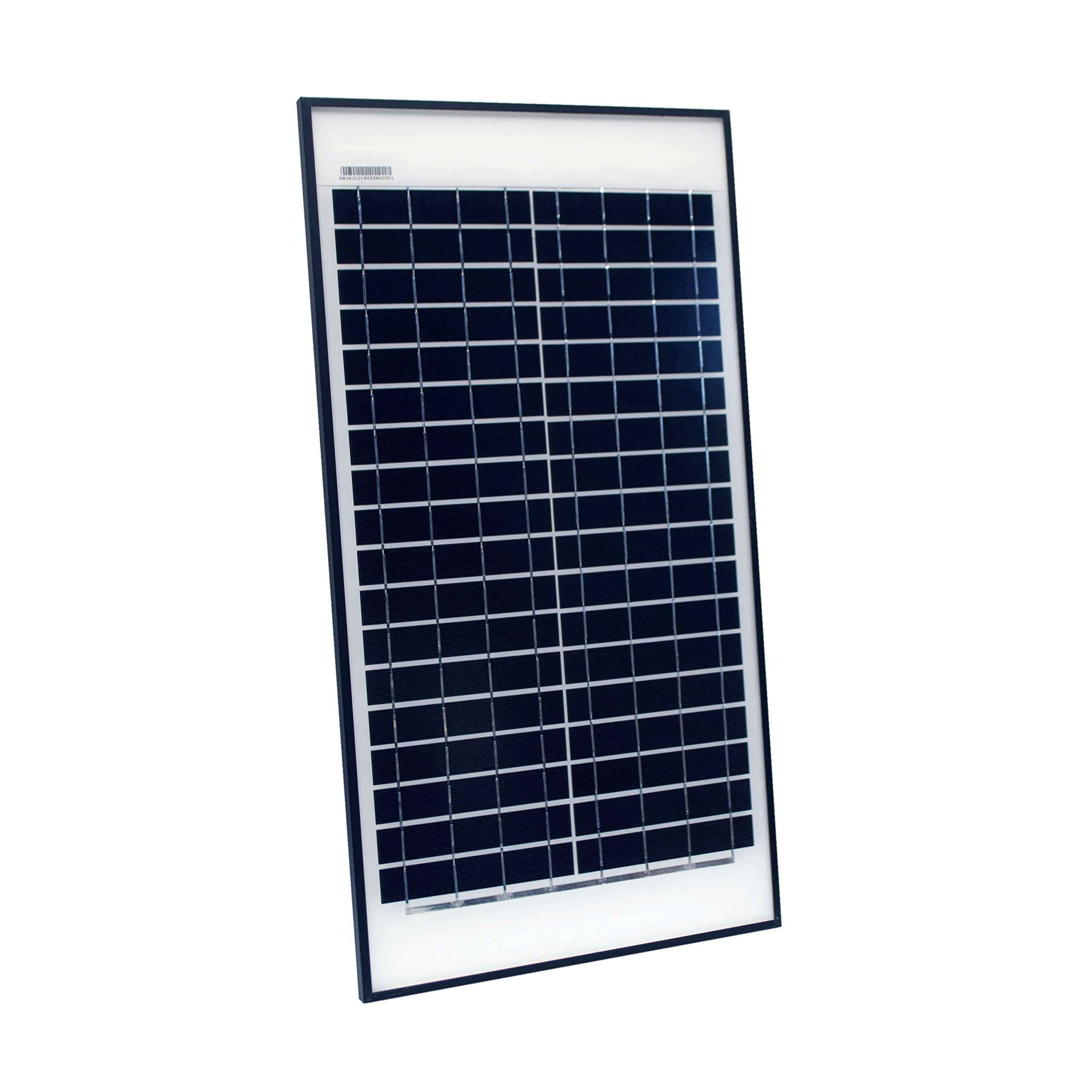 ALEKO SPU25W12V 25 Watt 12 Volt Monocrystalline Solar Panel for Gate Opener Pool Garden Driveway