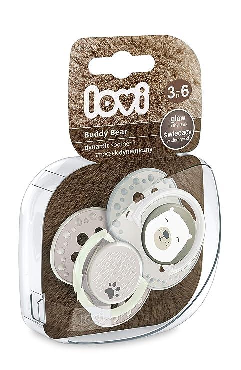 LOVI - Buddy Bear Chupetes dinámicos, 3-6 m, 2 unidades ...