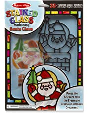 Melissa & Doug  Made Easy - Santa Claus Stained Glass