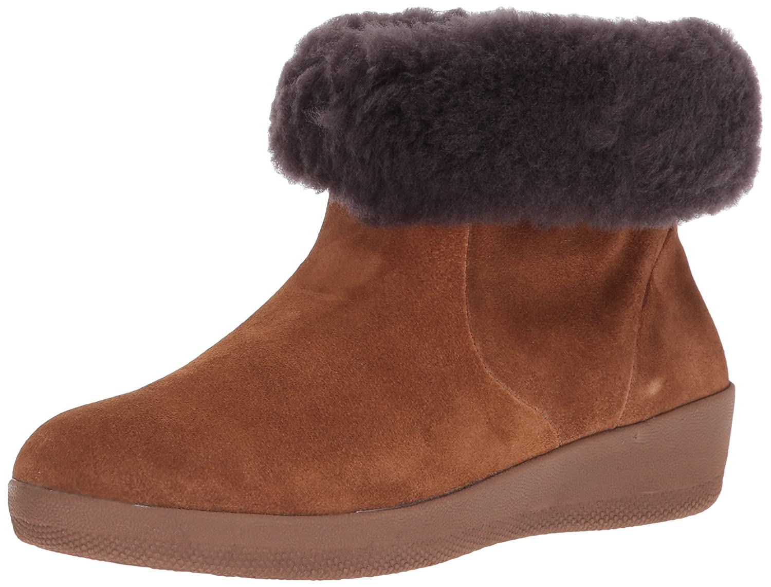 FitFlop Women's Skatebootie Suede Shearling Ankle Boot B06XG579CD 10 B(M) US|Chestnut
