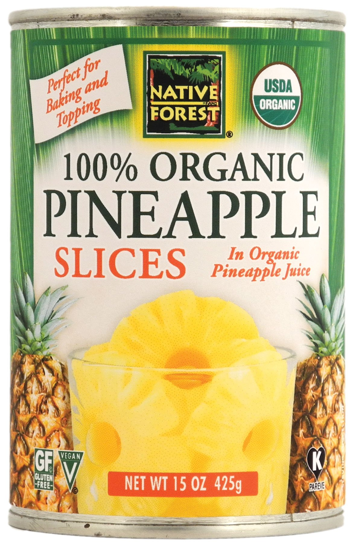 Amazon Com Native Forest Organic Pineapple Crushed 14