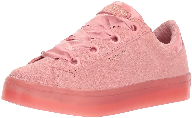 Skechers Women's Hi-Lite-Suede Satin Sneaker B0741RDDMK 7 B(M) US|Pink