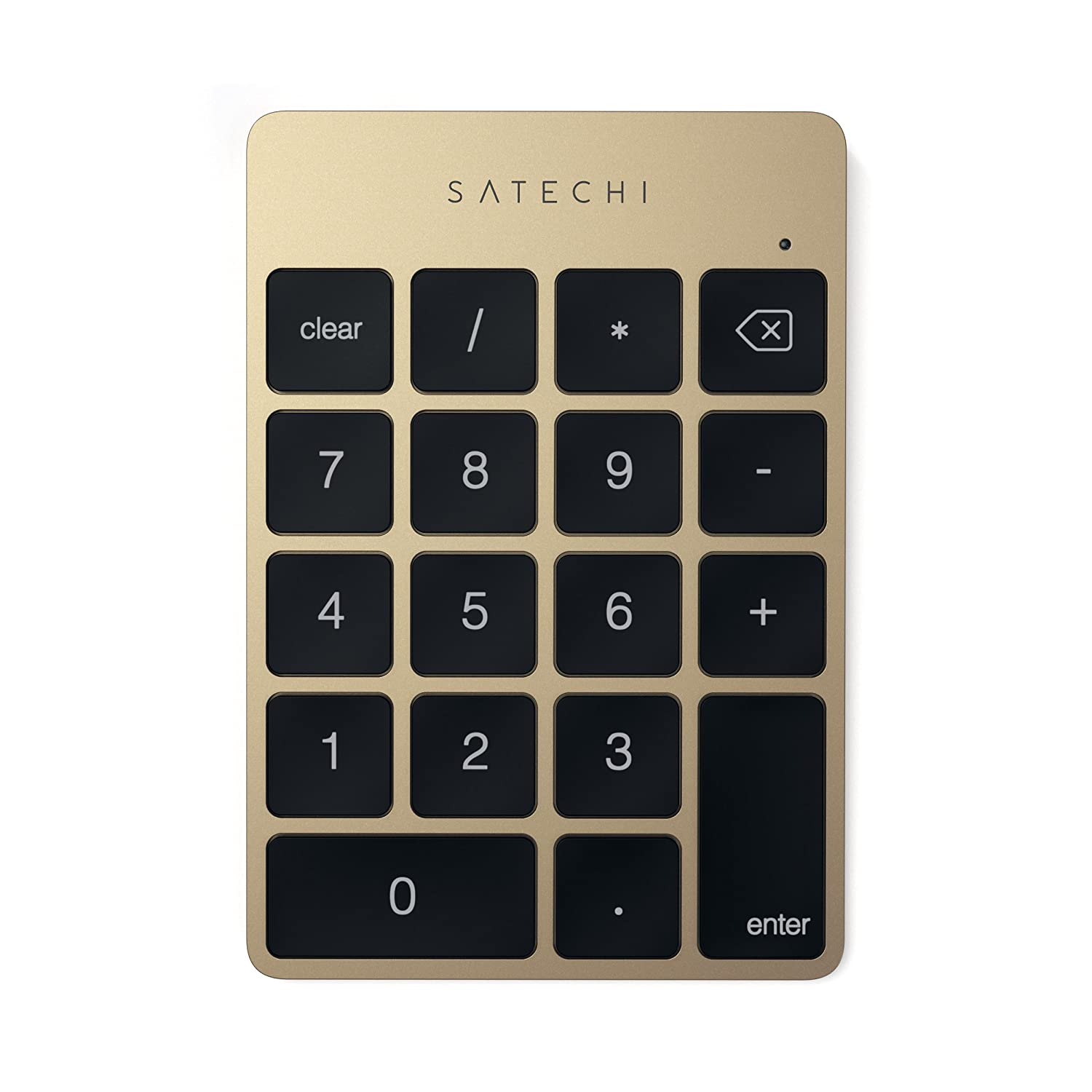 Satechi Slim Aluminum Bluetooth Wireless 18-Key Keypad Keyboard Extension for Excel Numbers Data Entry - Compatible with 2017 iMac, iMac Pro, MacBook Pro, MacBook, iPad, iPhone, Dell, Lenovo and more (Silver) ST-SALKPS