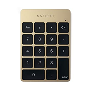 Satechi Slim Portable Aluminum Bluetooth Wireless 18 Key Keypad