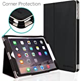 iPad Air 2 Case, [CORNER PROTECTION] CaseCrown Bold Standby Pro (Black) with Sleep / Wake & Multi-Angle Viewing Stand