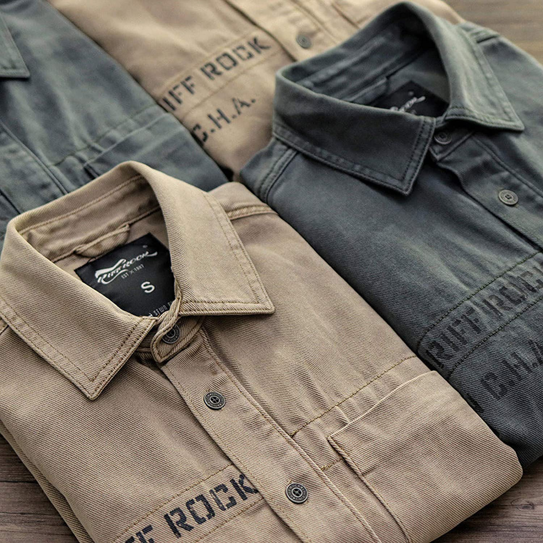 New Tooling Camisa de Hombre Camisa Suelta Manga Larga ...