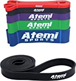 Atemi Sports Resistance Bands | 208cm Exercise Bands for Men or Women | Resistance Loops and Workout Guide | Ideal for Strength Training, Crossfit, Yoga, Pilates and Physiotherapy
