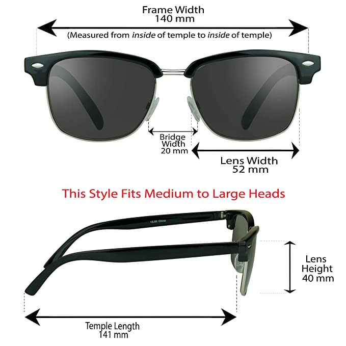 Amazon.com: ProSPORT - Gafas de sol de lectura clásicas con ...