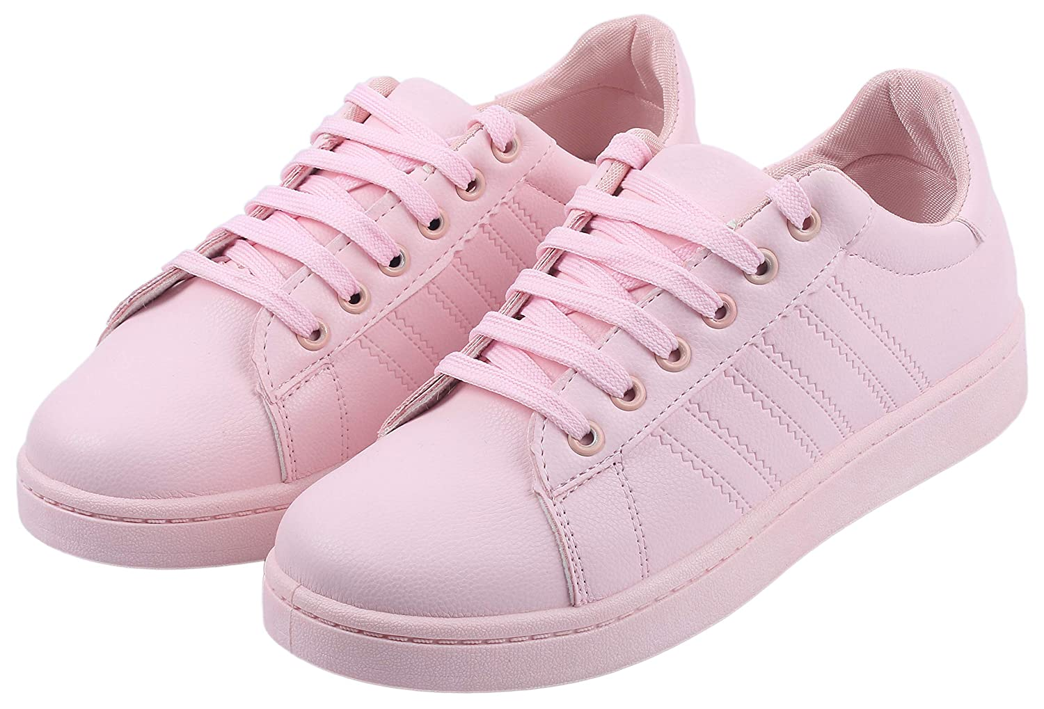 Irsoe Kickonn Star Smart Pink Casual Sneakers for Girls and Women