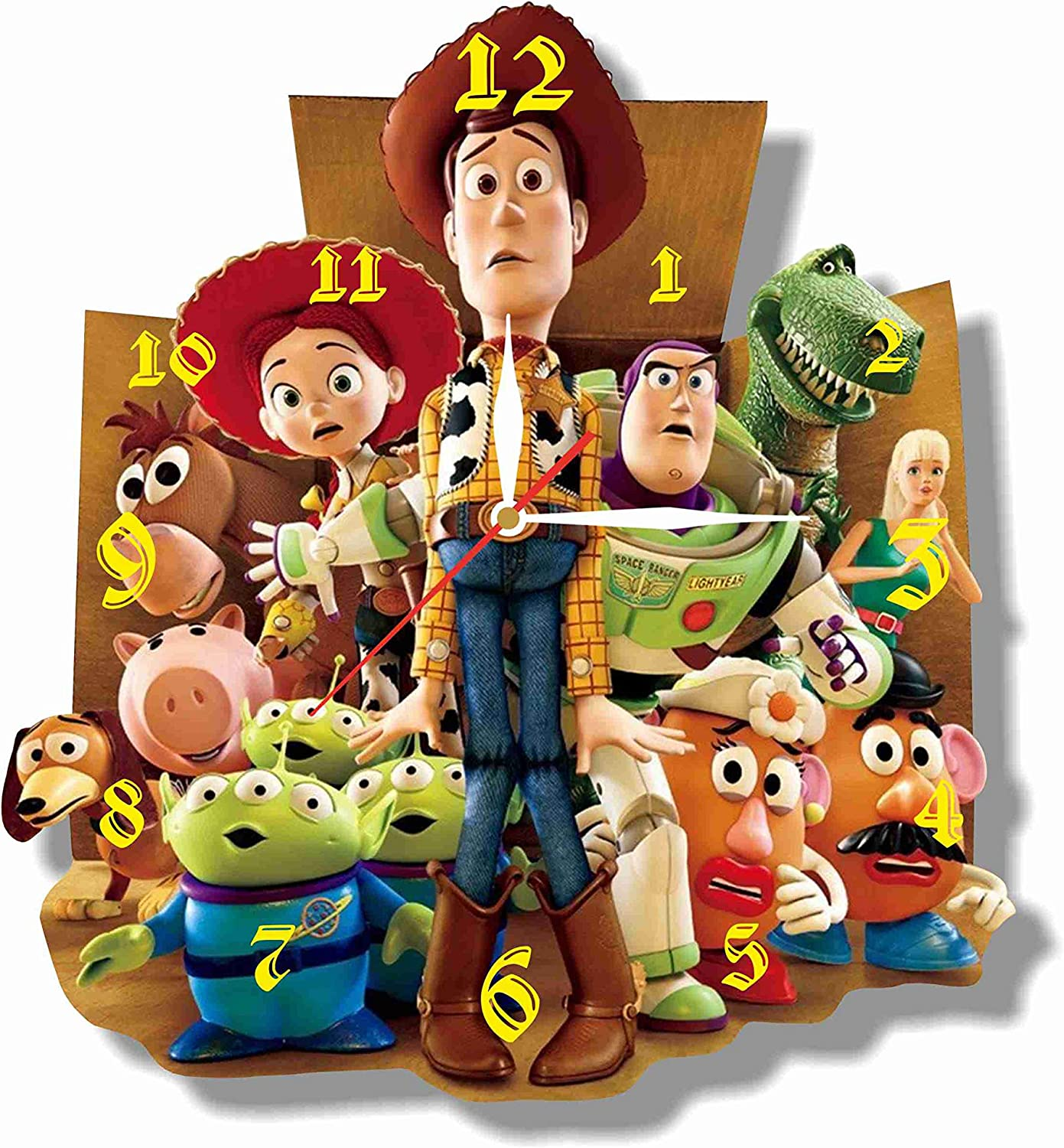 ArtWall Toy Story 11.8'' Handmade Clock - Get Unique décor for Home or Office – Best Gift Ideas for Kids, Friends, Parents and Your Soul Mates - Made of Plastic