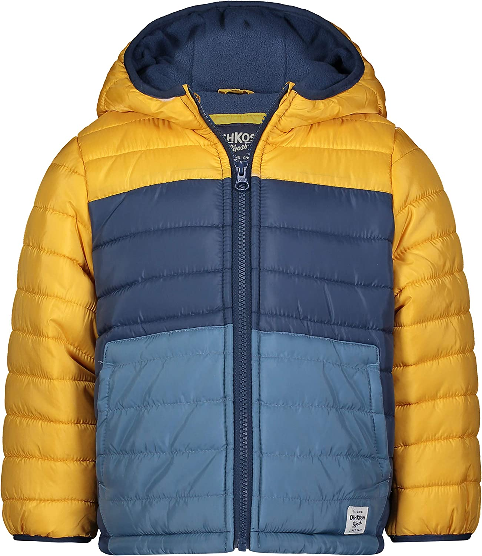 OshKosh BGosh Baby Boys Heavyweight Winter Jacket W//Sherpa Lining