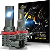 Cougar Motor H11 | H8 | H9 LED Bulb, 10000LM 6500K Cool White All-in-One Conversion Kit Direct Installation, Halogen Replacem