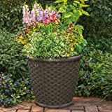 "Suncast 22"" Sonora Resin Planter, Java, 2 Pack"